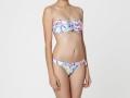 Bikini bandeau de flores tropical