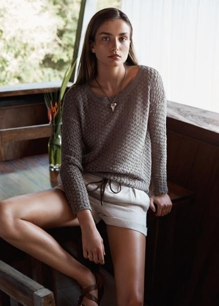 Jersey de algodón en punto abierto