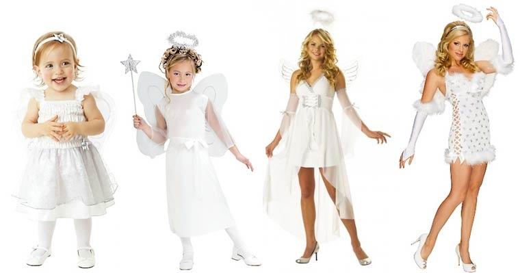 Evolución de los disfraces de ángeles
