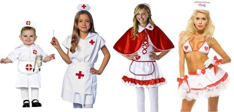 Evolución de los disfraces de Halloween de enfermera