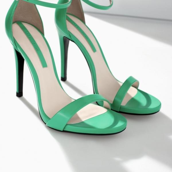 Sandalias de tacón tiras finas
