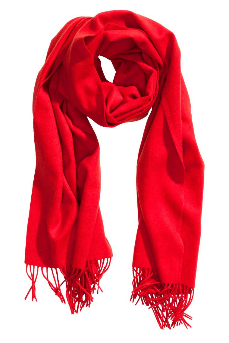 Bufanda de lana y flecos H&M