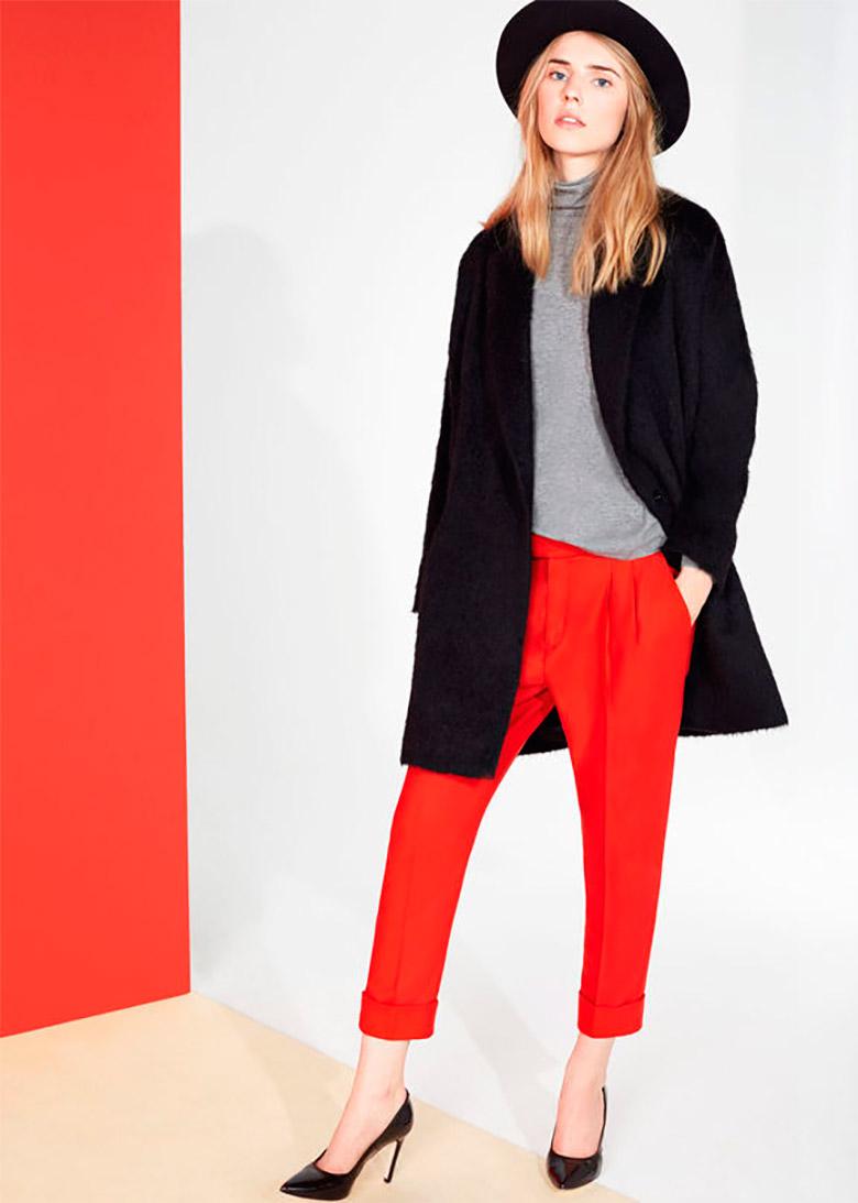 Pantalón con estampado chic de colores