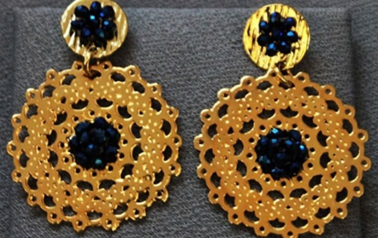 Aretes dobles en bronce