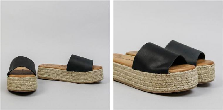 Sandalias flatform negras