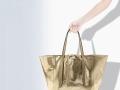 Bolso shopper de piel craquelado