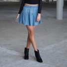 Falda denim colección femenina Adam Levine