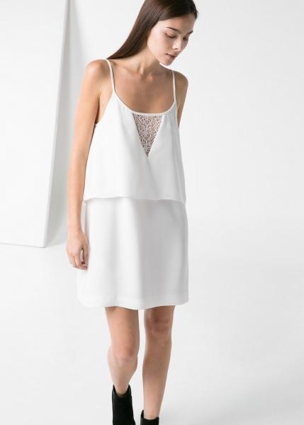 Vestido de doble capa en tejido crepé