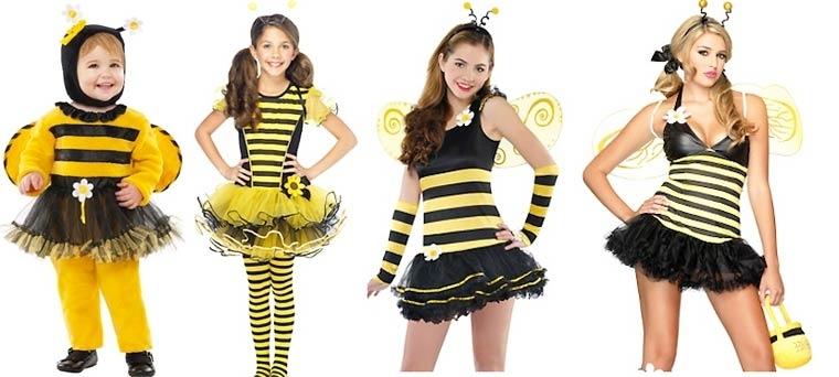 Evolución de los disfraces de Halloween avispas