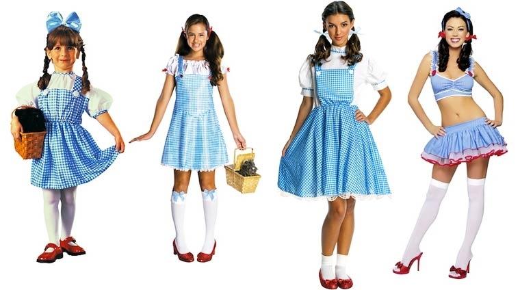 Evolución de los disfraces de Halloween de Dorothy