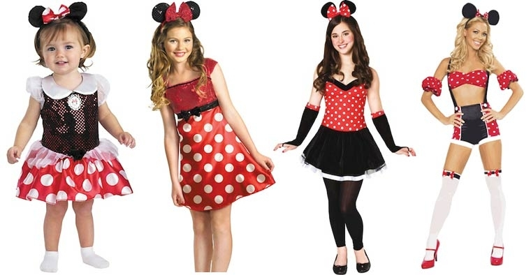 Evolución de los disfraces de Halloween de Minnie