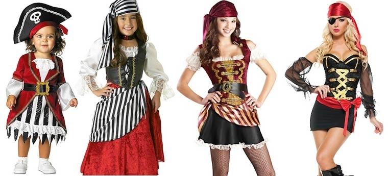 Evolución de los disfraces de Halloween de pirata