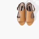 Sandalias de piel envolventes