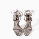 Sandalias de tacón de piel print