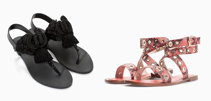 Sandalias planas Primavera Verano Zara 2014