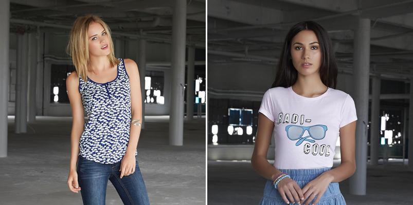 Camisetas de la colección femenina Adam Levine