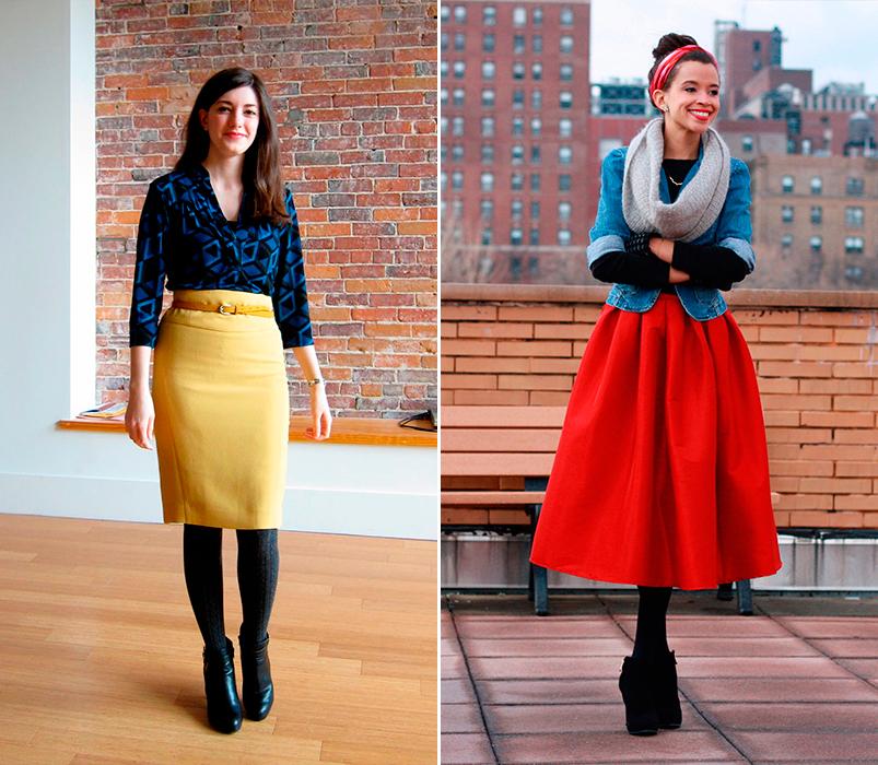 Faldas de colores vivos para animar el invierno