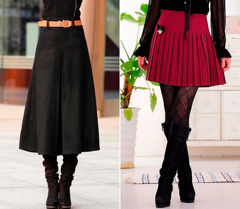 Faldas de moda para el invierno 2015