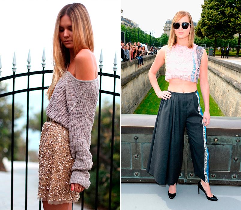 Faldas joya y faldas pantalón invierno 2015
