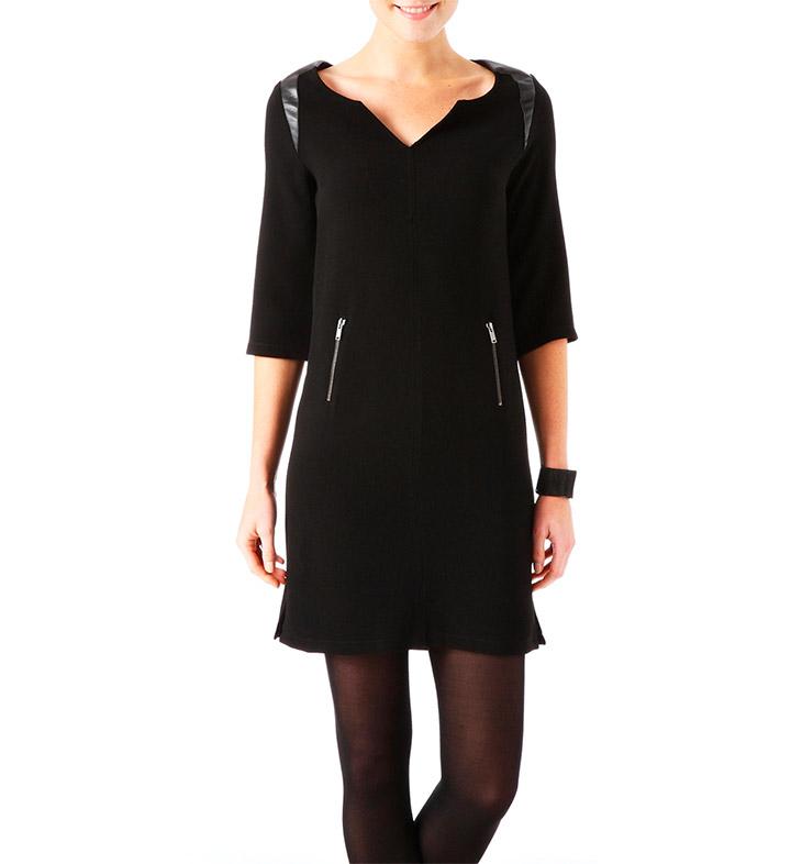 Vestido crepé negro