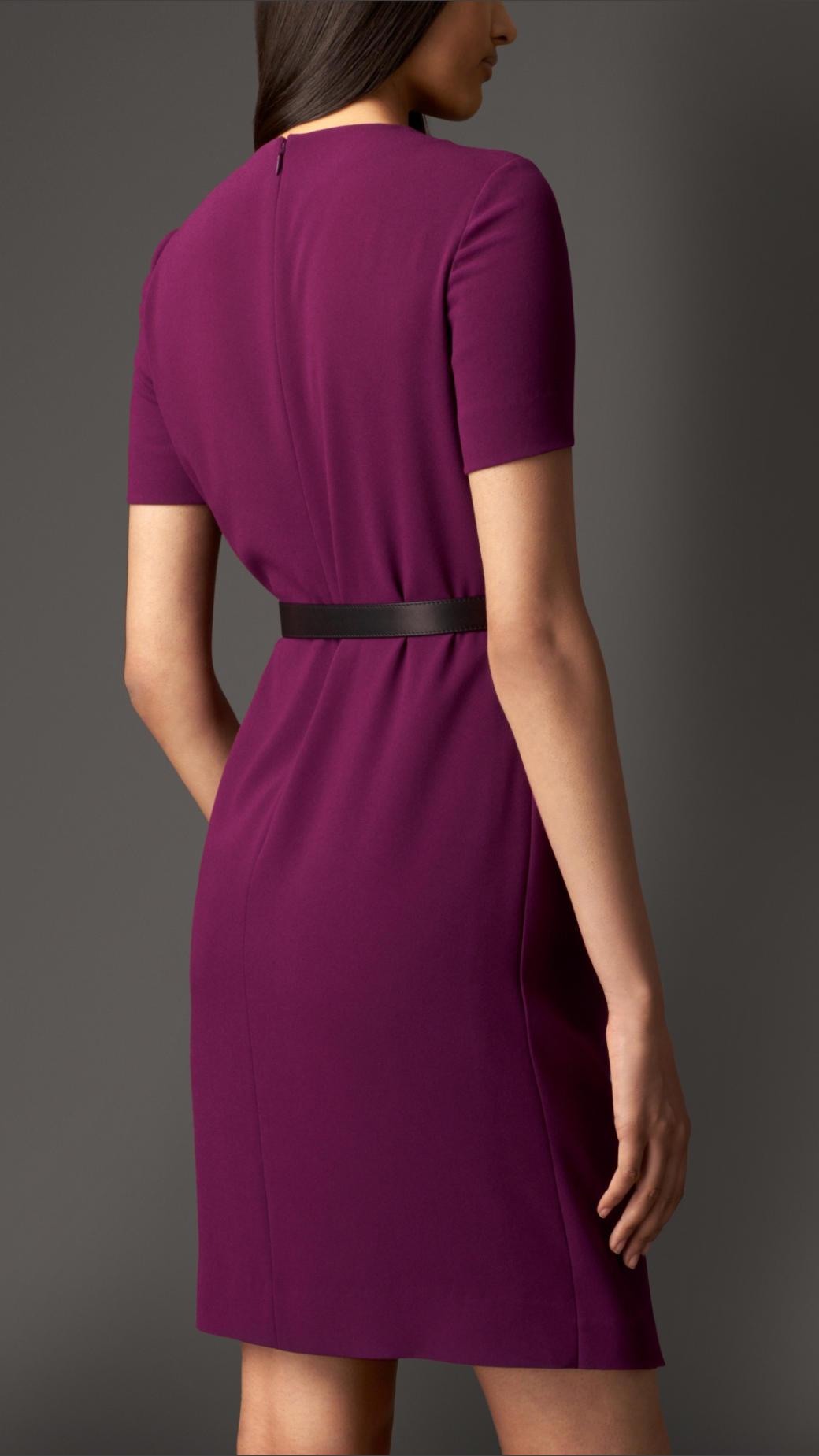 Atractivo Vestido De Cóctel De Color Magenta Ornamento - Ideas de ...