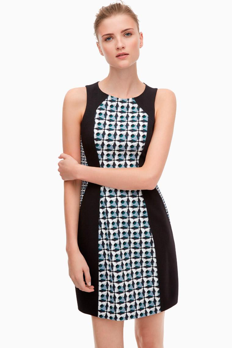 Vestido lady con print geométrico