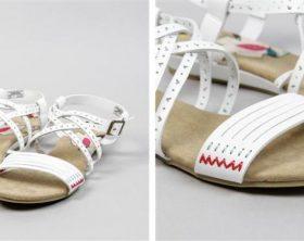 Sandalias de cuña blancas