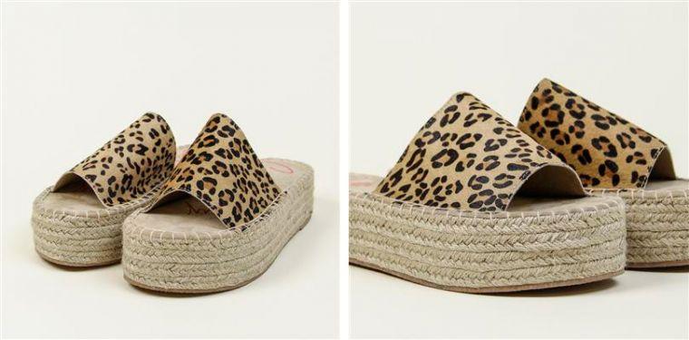 Sandalias flatform con animal print
